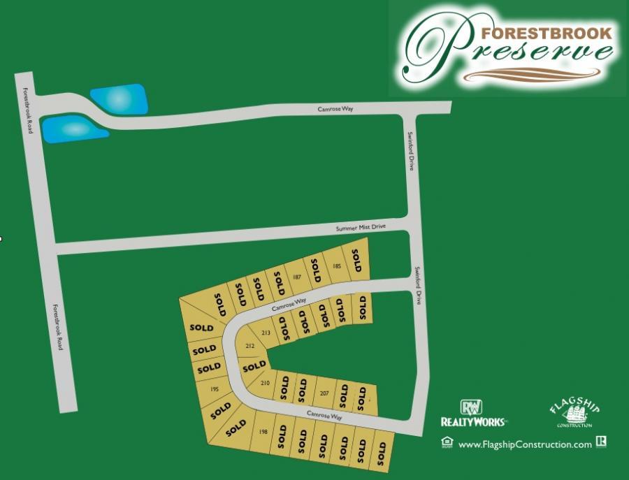 Forestbrook Preserve Sitemap