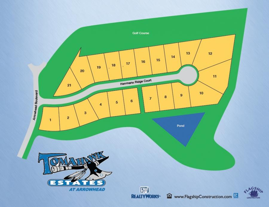 Tomahawk Estates at Arrowhead - Only 4 Lots Left! Sitemap